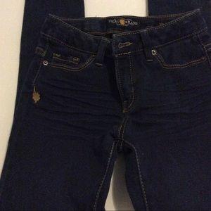 Lucky Brand Girl's Blue/Gold Zoe Jeggins Size 8